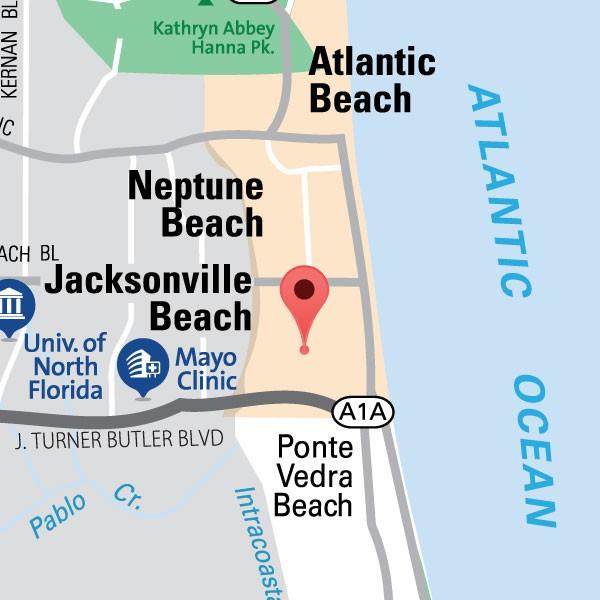 Jacksonville Beach Location Map